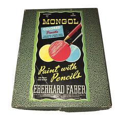 Vtg Eberhard Faber Mongol Colored Pencils Double Set 31 / 36 Asst 747 1950