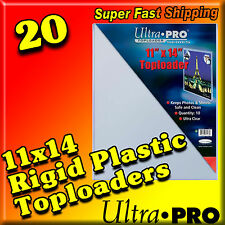 20 ULTRA PRO 11x14 RIGID HARD PLASTIC TOP LOAD TOPLOADER PHOTO ART PRINT HOLDER