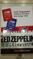 Led Zeppelin Feather In The Wind Tour 1980 Signed Book Exc Dave Lewis