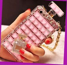 Handmade Bling Perfume Bottle Crystal Phone Case Cover Chain for iPhone 5s/6/7