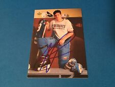 Mike Ricci  Nordiques 1992-93 Upper Deck  Signed Auto Card