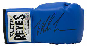 Mike Tyson Signed Right Hand Blue Cleto Reyes Boxing Glove JSA ITP