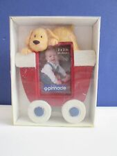New-Ceramic DOG ON TOP OF A CARRIAGE PICTURE FRAME, Pinnacle Frames & Accents