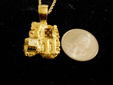 bling gold plated casino 7/11 dice charm rope chain hip hop necklace jewelry gp