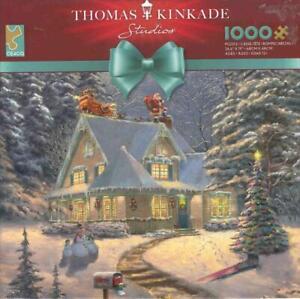 Thomas Kinkade 1000 Pc Jigsaw Puzzle Midnight Delivery NIB
