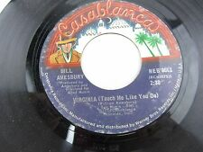 """BILL AMESBURY Virginia Touch Me Like / That Close To Me  7"""" Record 45 NEB-0001"""