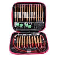 13 Pairs Interchangeable Bamboo Needles Set Aluminum Circular Knitting Needles