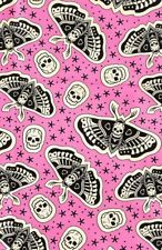 NUOVO Sourpuss Morti Testa Moth TESCHIO IN RASO PER CAPELLI, Sciarpa Tatuaggio Punk Gotico Pin Up