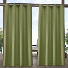 Indoor Outdoor Solid 54 in. W x 96 in. L Grommet Top Curtain Panel in Kiwi Green
