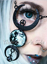 Restyle Full Moon Phases Grunge Dark Occult Nu Goth Jewellery Pendant Necklace