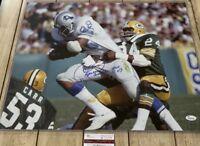 Charlie Sanders Autographed/Signed 16x20 Photo COA Detroit Lions HOF