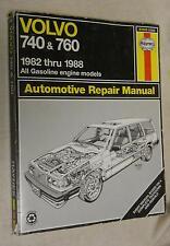 Haynes 97040 (1550): Volvo 740 &760 1982-88 Automotive Repair Manual (1989, PB