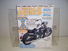 Suzuki's TL1000 Super Twin, Cycle World JAN 97 Blackbird, BMW K1200RS