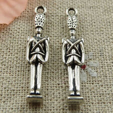 Free Ship 100 pieces tibetan silver man pendant 31x7mm #421