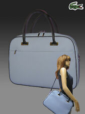 Vintage Lacoste Negocios Estilo Maletín bolsa clásica 2.11 Cromo Azul
