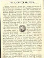40 LES PRODUITS RESINEUX ARTICLE DE PRESSE PAR ETIENNE MESPLEDE 1930