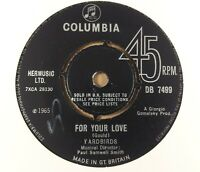 """Yardbirds : For Your Love : Vintage 7"""" Single from 1965"""