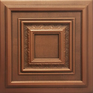 Hand painted Ceiling Tile, DIY, 20x20 Glue Up, Antyx Antique Copper