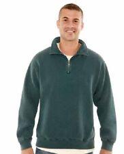 Redwood Classics 16oz. 1/4 Zip Polo Sweatshirt, Medium, Burgundy Sand