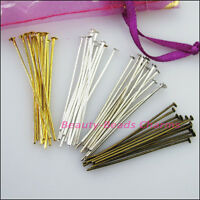 20mm 30mm 40mm 50mm Head Pin Finding Connectors Gold Silver Bronze Plated