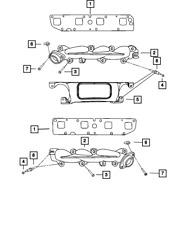 Genuine Mopar Exhaust Manifold Shield 53032968AE