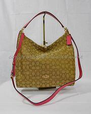 2a37a38ffd35 Coach Outline Signature Celeste Convertible Hobo Bag Strawberry F58327