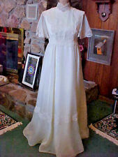 Vintage Ladies Wedding Dress Size 6 Murray Hamburger Co Ivory Union Label