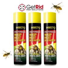 Wasp Nest Killer Destroyer Foam 300ml Quick Strong Kills Wasps Destroys Nest
