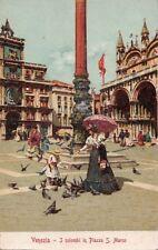 Postcard Venice Italy Venezia I Colombi in Piazza San Marco
