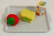"DOLL FOOD FOR 18"" AMERICAN GIRL DOLL PRETEND PLAY SNACK PUZZLE TRAY ACCESSORIES"