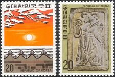 Korea 1978 YO Ram/Sheep/New Year/Greetings/Lunar Zodiac/Sun/Snow 2v set (n31827)