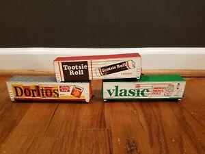 Lot of 3 Vintage Life Like HO Train Cars Doritos Vlasic & Tootsie Roll