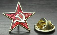 Hammer & Sickle Red Star Communist Lapel Pin Badge Revolution Socialist USSR