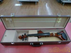 Used R And Bell Electric Violin 4/4 Full Scale Viezo Type Pick Up Saddle
