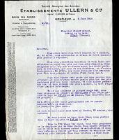 """HONFLEUR (14) SCIERIE PARQUETERIE / Fabrique de PARQUET """"ULLERN & Cie"""" en 1934"""