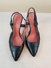 Tahari Woman's Heels Size 8.5 Doris Black Leather Pointy Slingback  EUC!!!