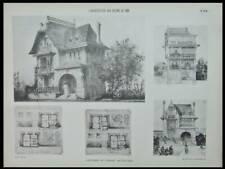 ONIVAL, AULT, VILLA LE CAPRICORNE - 1906 - GRANDE PLANCHE  - RAOUL BRANDON