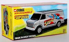 CUSTOM DISPLAY BOX FOR CORGI JUNIORS 47 SUPERMAN - SUPERVAN - FREE UK POST
