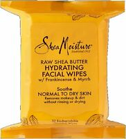 Shea Moisture Raw Shea Hydrating Facial Wipes 30 ea (Pack of 2)
