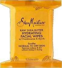 Shea Moisture Raw Shea Hydrating Facial Wipes 30 ea (Pack of 2)