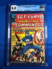 Sgt. Fury #13 CGC 4.0 WP (Marvel 12/64) 1st meeting of Cap and Nick Fury