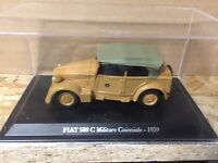 "DIE CAST "" FIAT 508 C MILITARE COLONIALE - 1939 "" + TECA RIGIDA BOX 2 SCALA 1/43"