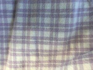 POTTERY BARN KIDS TWIN PURPLE PLAID FLANNEL SHEET