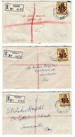 Australia Tasmania 3 x registered covers circa 1963 NEWNHAM, DELORAINE, D'PORT
