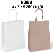 More details for 1-800 brown & white paper bags with twisted handles. party, gift & carrier bag