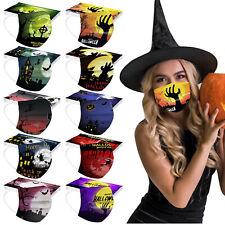 10stk Halloween Gedruckte Schutzmaske Mund-Nasen-Maske 3-lagig Behelfsmask