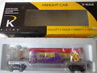 K-LINE 0 GAUGE CIRCUS TRANSPORT RAILROAD WITH CIRCUS CANNON & 3 CIRCUS FIGURES