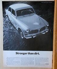 1967 magazine ad for Volvo autos - Stronger Than Dirt, photo of Volvo car