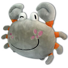 "7"" Gray Happy Face Crab Soft Plush Toy Stuffed Animal Suction Cup New Cute"