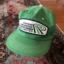 Vintage K Products Potash Farming Feed and Grain Snap Back Trucker Hat  USA